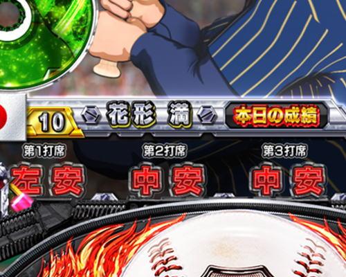 パチンコP巨人の星 一球入魂3000の打者の成績画像