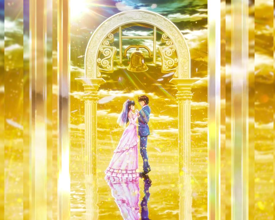 パチンコPめぞん一刻~Wedding Story~GOLD WEDDING背景の画像