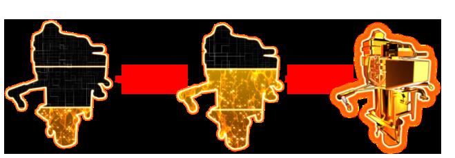 パチンコPモンキーターンV GC250A保留変化予告の画像