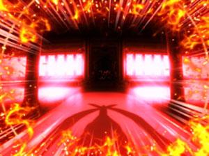 パチンコPモモキュンソードGC250Aの最終チャンスアップ赤画像