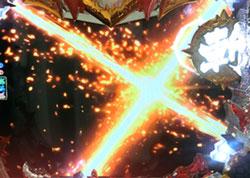 パチンコPモモキュンソードGC250AのX斬撃画像