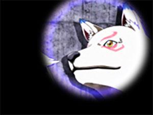 パチンコPモモキュンソードGC250Aの桃スポットライト犬神画像