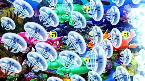 パチンコPA大海物語4スペシャルWithアグネス・ラムのクラゲから魚群画像