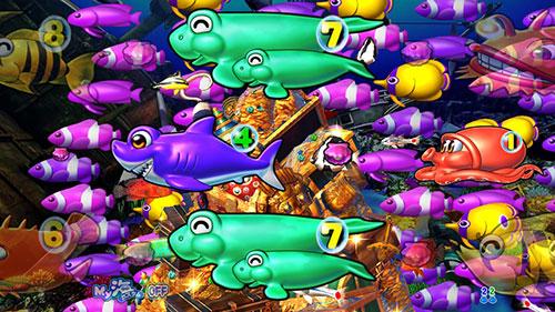 パチンコPA大海物語4スペシャルWithアグネス・ラムの魚群予告画像