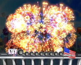Pぱちんこ 乗物娘 WITH CYBERJAPAN(R)DANCERS M5-K1のST中の花火演出画像