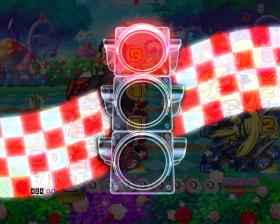 Pぱちんこ 乗物娘 WITH CYBERJAPAN(R)DANCERS M5-K1の信号機演出画像