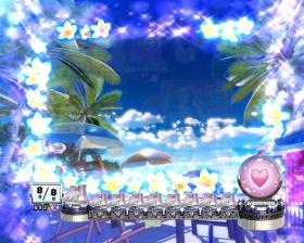 Pぱちんこ 乗物娘 WITH CYBERJAPAN(R)DANCERS M5-K1の花演出青画像