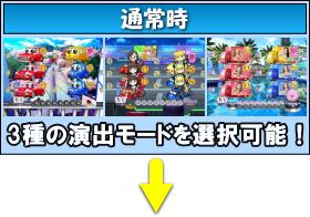 Pぱちんこ 乗物娘 WITH CYBERJAPAN(R)DANCERS M5-K1のゲームフロー通常時画像