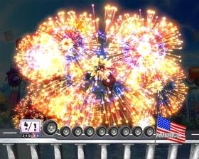 Pぱちんこ 乗物娘 WITH CYBERJAPAN(R)DANCERS M-K1のST中の花火演出画像