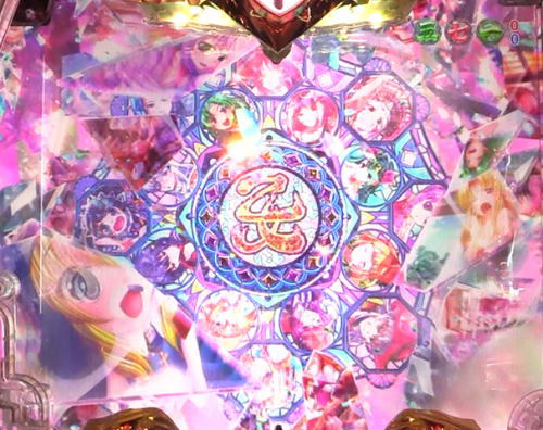 パチンコ乙女6の萌えカットイン発生前画面