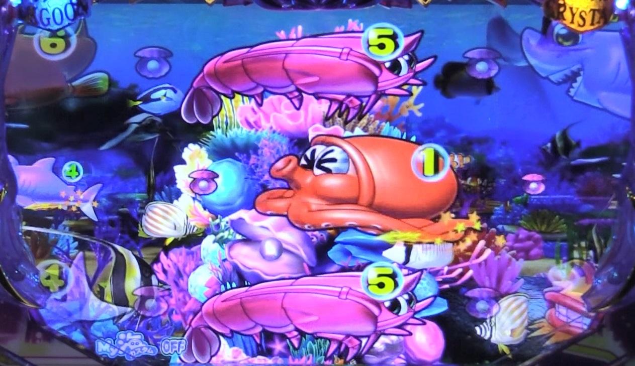 P大海物語4スペシャルBLACKの珊瑚礁画像