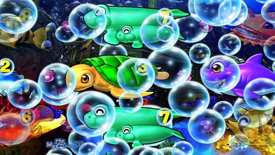 P大海物語4スペシャルBLACKの泡画像