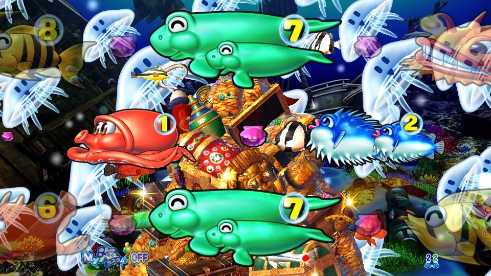 P大海物語4スペシャルBLACKのリーチクラゲ画像