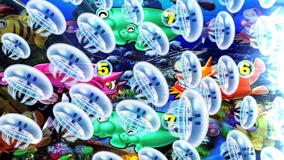 P大海物語4スペシャルBLACKのクラゲ画像