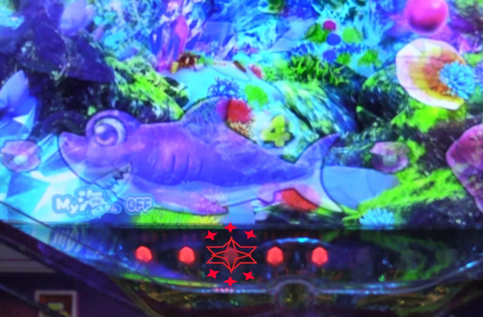 P大海物語4スペシャルBLACKの保留点滅画像