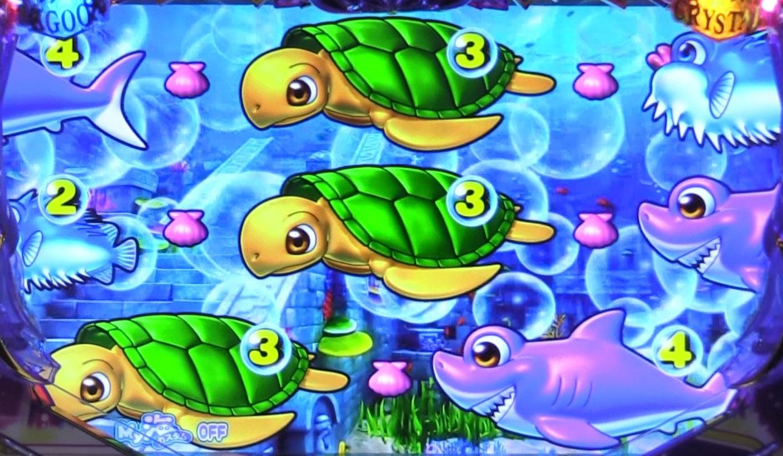 P大海物語4スペシャルBLACKの泡前兆2画像