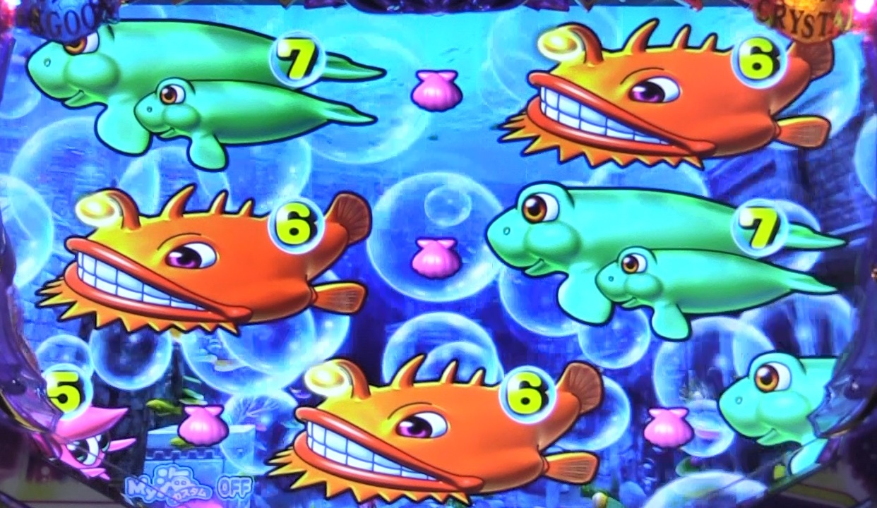 P大海物語4スペシャルBLACKの泡前兆遅れ画像