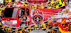パチンコPパトラッシュV(RED)の巨大消防車役物画像