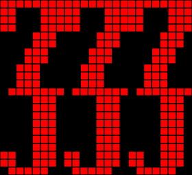 パチンコPパトラッシュV(RED)の7orJ図柄大当り画像