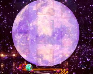 パチンコPフィーバー真花月2夜桜バージョンの満月ゾーンの画像