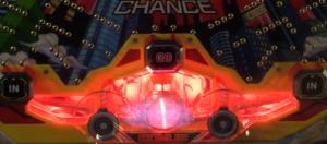 パチンコ羽根モノ スカイレーサーのアタッカー周りのランプ色の画像