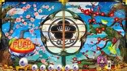 パチンコPスーパー海物語IN JAPAN2金富士 319Ver.リーチ後襖予告の画像