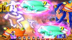 パチンコPスーパー海物語IN JAPAN2金富士 199Ver.華唱あおり予告の画像