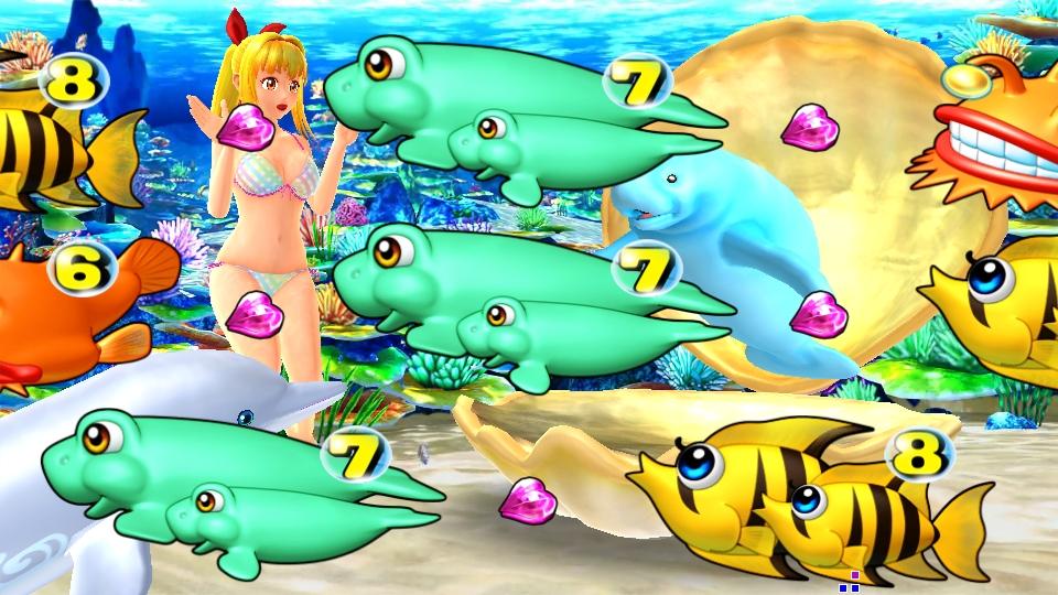 パチンコPスーパー海物語 IN 沖縄5のアングル連続の画像