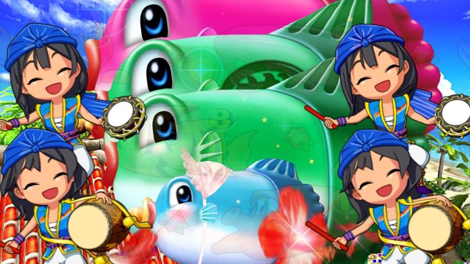 パチンコPスーパー海物語 IN 沖縄5のマンボウルーレットの画像