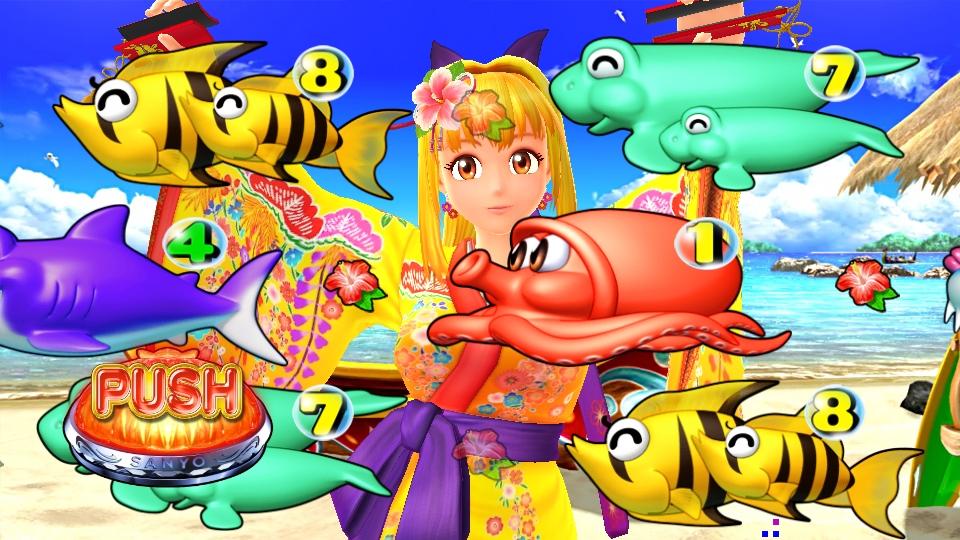 パチンコPスーパー海物語 IN 沖縄5の沖縄マリンリーチの画像