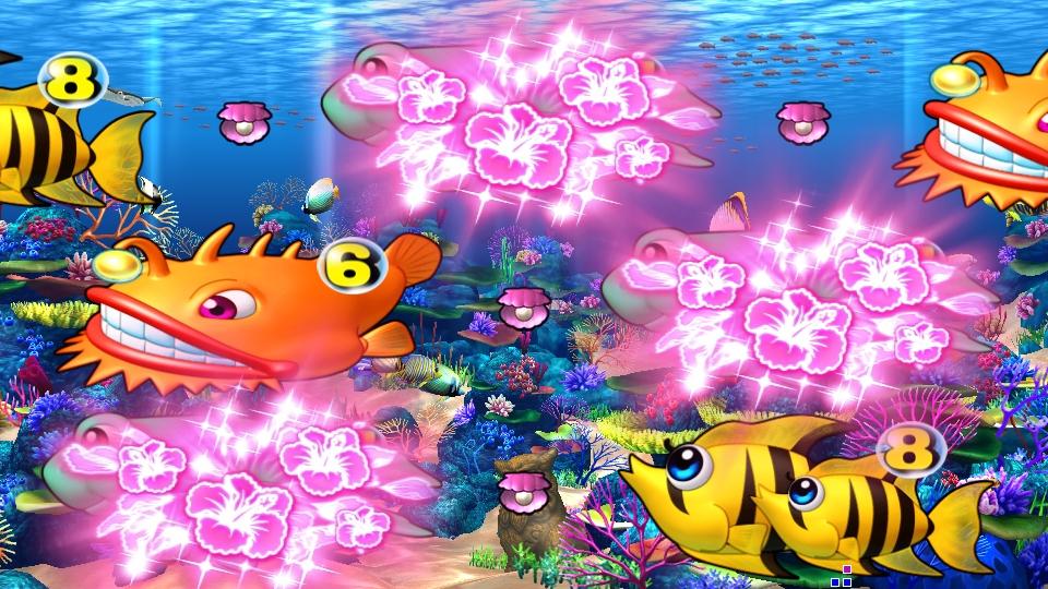 パチンコPスーパー海物語 IN 沖縄5のチャンス目赤の画像