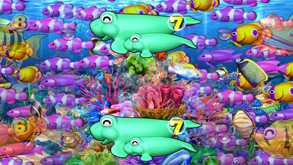 パチンコPスーパー海物語 IN 沖縄5の魚群の画像
