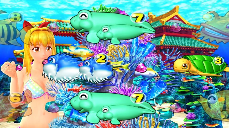 パチンコPスーパー海物語 IN 沖縄5のマリン珊瑚礁の画像