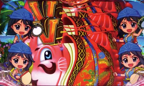 パチンコPスーパー海物語 IN 沖縄5のキングマンボウルーレットの画像
