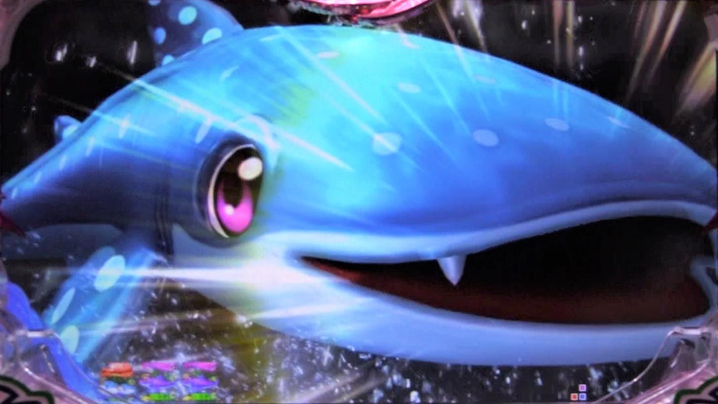 パチンコPスーパー海物語 IN 沖縄5 桜ver.199のじんべぇチェンジSTの画像