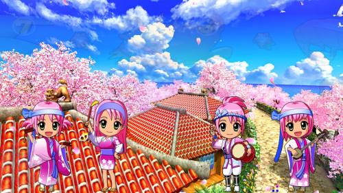 パチンコPスーパー海物語 IN 沖縄5 桜ver.199のミニキャラ4人の画像
