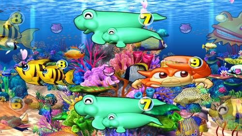 パチンコPスーパー海物語 IN 沖縄5 桜ver.199の珊瑚礁系リーチの画像