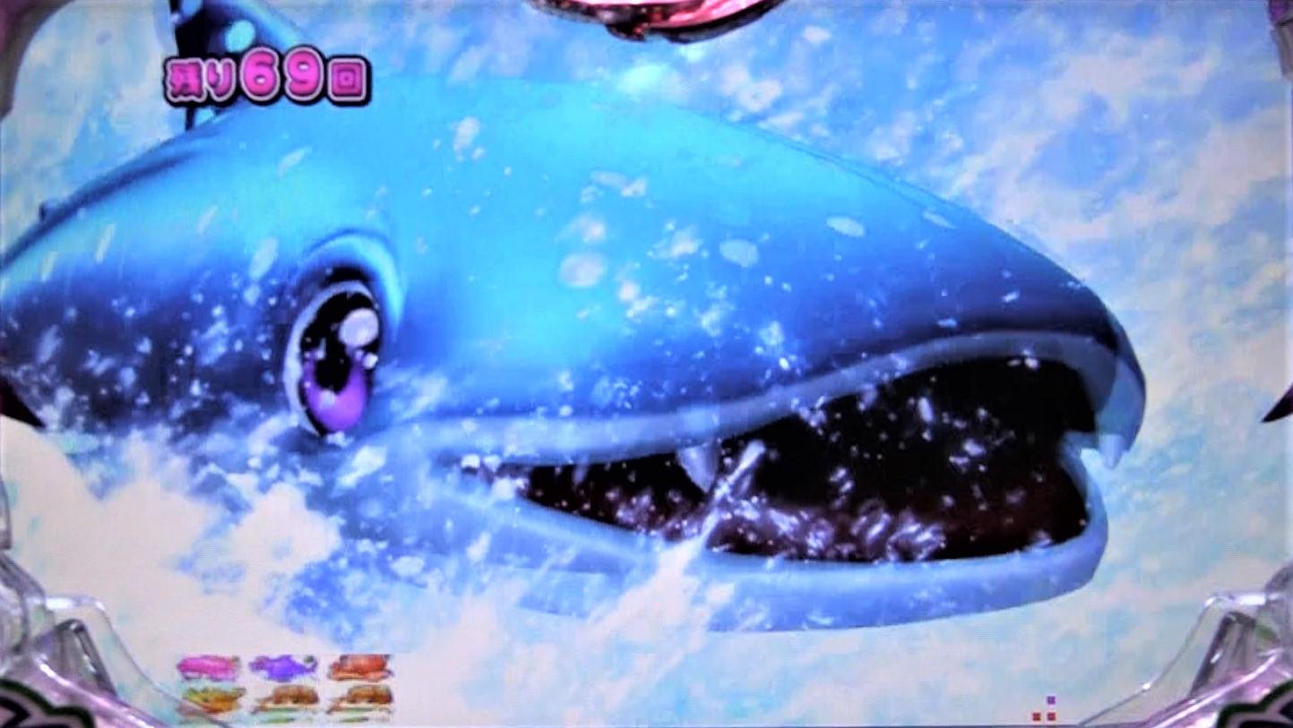 パチンコPスーパー海物語 IN 沖縄5 桜ver.319のじんべぇチェンジSTの画像