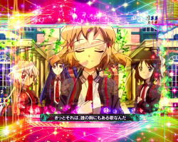 Pフィーバー戦姫絶唱シンフォギア2 1/230ver.の虹色のフリューゲル全回転