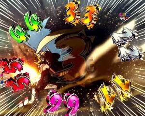 Pフィーバー戦姫絶唱シンフォギア2 1/77ver.のRADIANTFORCEライン数の画像