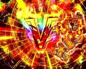 Pフィーバー戦姫絶唱シンフォギア2 1/77ver.のV入賞時のエフェクト色 虹