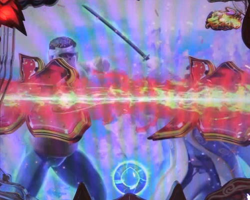 パチンコP神・天才バカボン~神SPEC~の闘剣リーチ