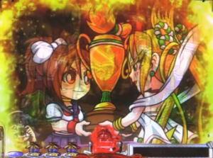 パチンコP天昇!姫相撲の全回転リーチの画像