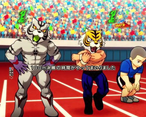 パチンコPフィーバータイガーマスクWのオリンピックリーチの画像