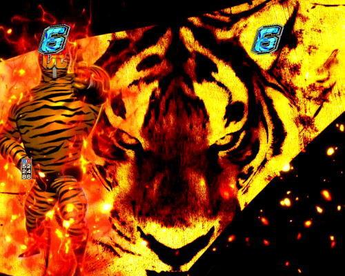 パチンコPフィーバータイガーマスクW Lightver.の虎保留の画像