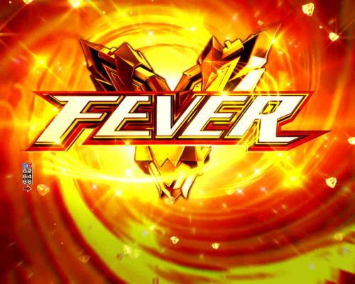 パチンコPフィーバータイガーマスクW Lightver.のFEVERの画像