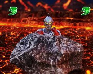 パチンコぱちんこ ウルトラ6兄弟 Light Versionの弱攻撃発生時の画像