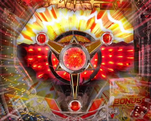 パチンコぱちんこ ウルトラマンタロウ2のバッジギミック