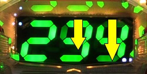 パチンコPワイルドロデオ6750だぜぇの変動開始順変化予告