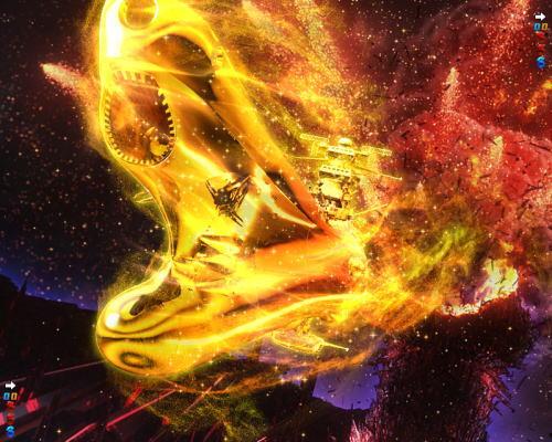 パチンコP宇宙戦艦ヤマト2202 愛の戦士たちの金ヤマト出現画像